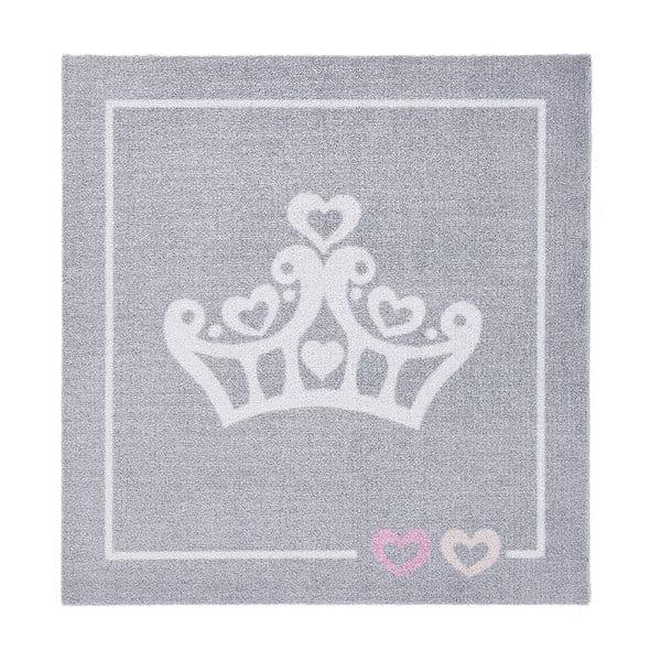 Detský sivý koberec Zala Living Crown, 100×100cm
