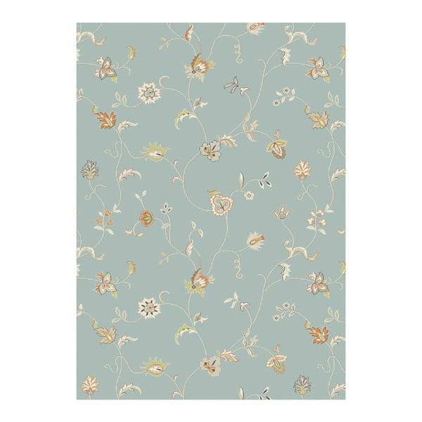 Koberec Asiatic Carpets Xico Floral Duck Egg, 120x170 cm