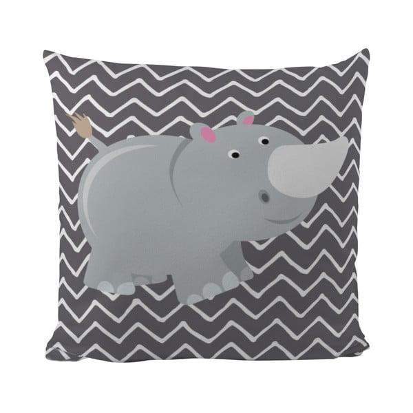 Vankúš Rhino in Grey, 50x50 cm
