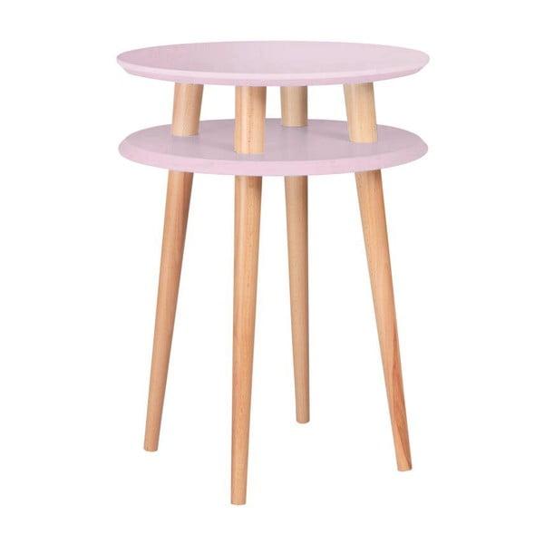 Ružový konferenčný stolík Ragaba UFO,Ø45cm