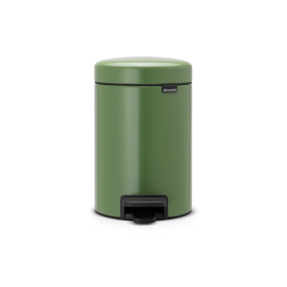 Zelený pedálový odpadkový kôš Brabantia Newicon, 3 l