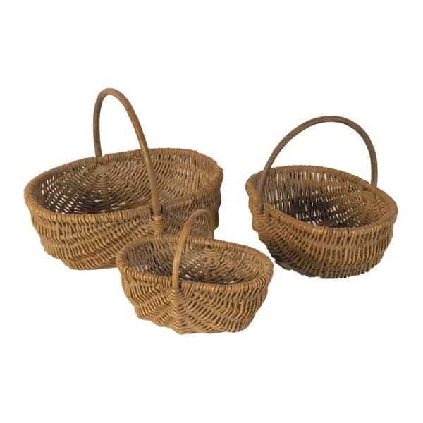 Sada 3 prútených košíkov Antic Line Baskets