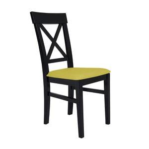 Čierna stolička so žltým sedadlom BSL Concept Hinn