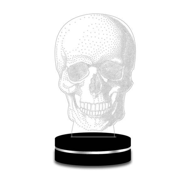 Svetlo s 3D efektom Modern Skull