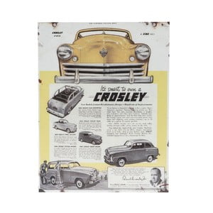 Ceduľa na stenu Novita Crosley