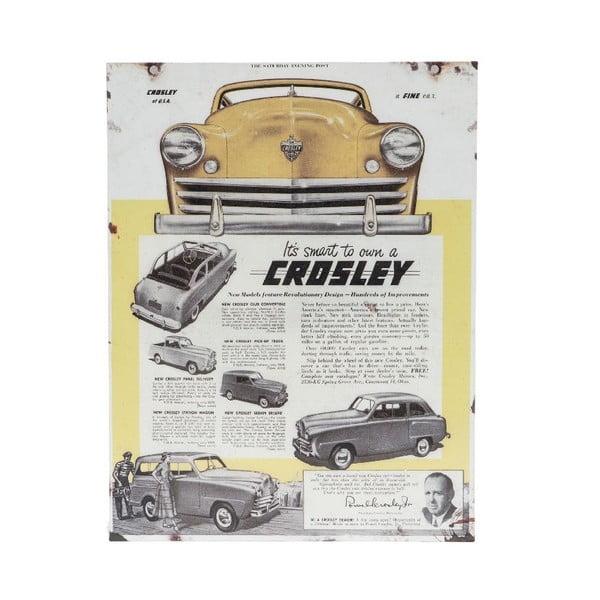 Nástenná ceduľa Novita Crosley, 30 x 40 cm