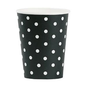 Sada papierových téglikov White Dots, 8 ks