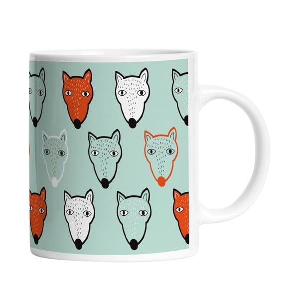 Keramický hrnček Fox Faces, 330 ml