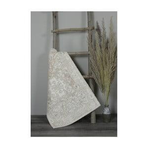 Béžová bavlnená kúpeľnová predložka My Home Plus Sensation, 60×90 cm