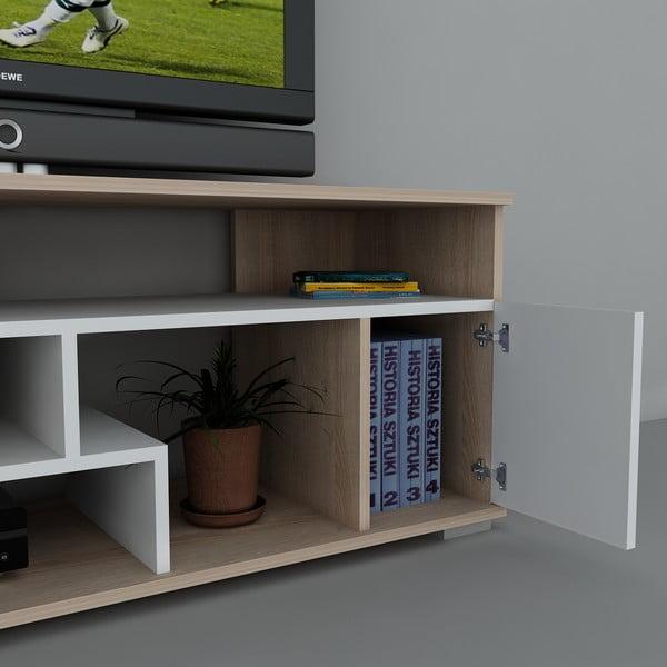 Stolík na televízor Leroy White, 38x140x55,2 cm