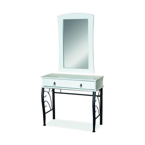 Kozmetický stôl so zrkadlom Black & White