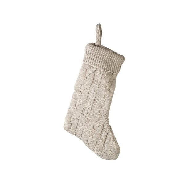 Béžová vianočná ponožka Parlane Uma