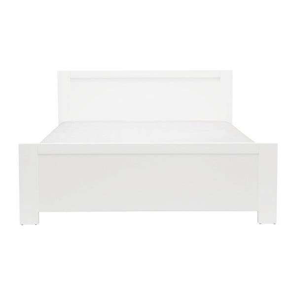 Biela dvojlôžková posteľ Mazzini Beds Sleep, 140×200cm