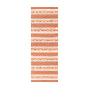 Oranžový behúň vhodný do exteriéru Narma Runo, 70 × 350 cm