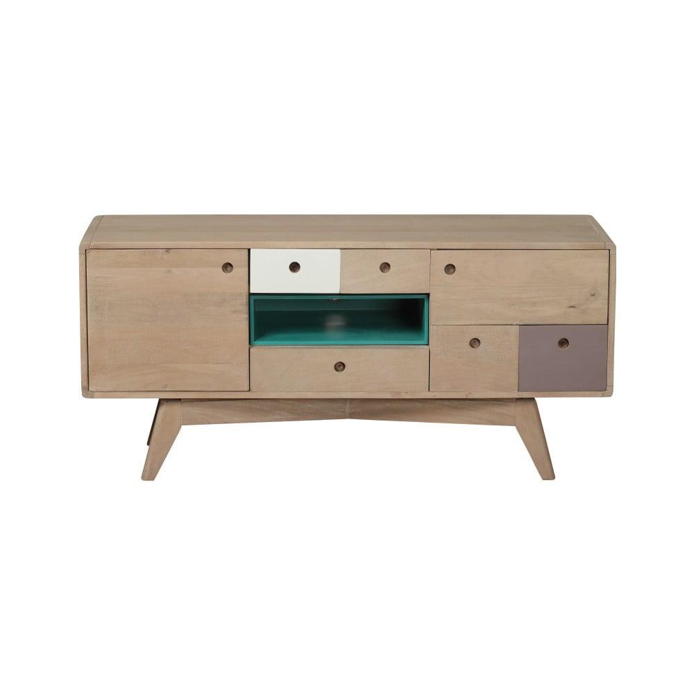 TV komoda z masívneho mangového dreva Woodjam Play Light, 120 cm