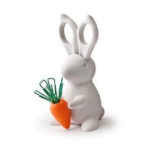 Biely stojan s nožnicami Qualy Desk Bunny Scissors