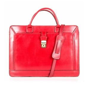 Červená kožená taška cez rameno Italia in Progress Riccardo