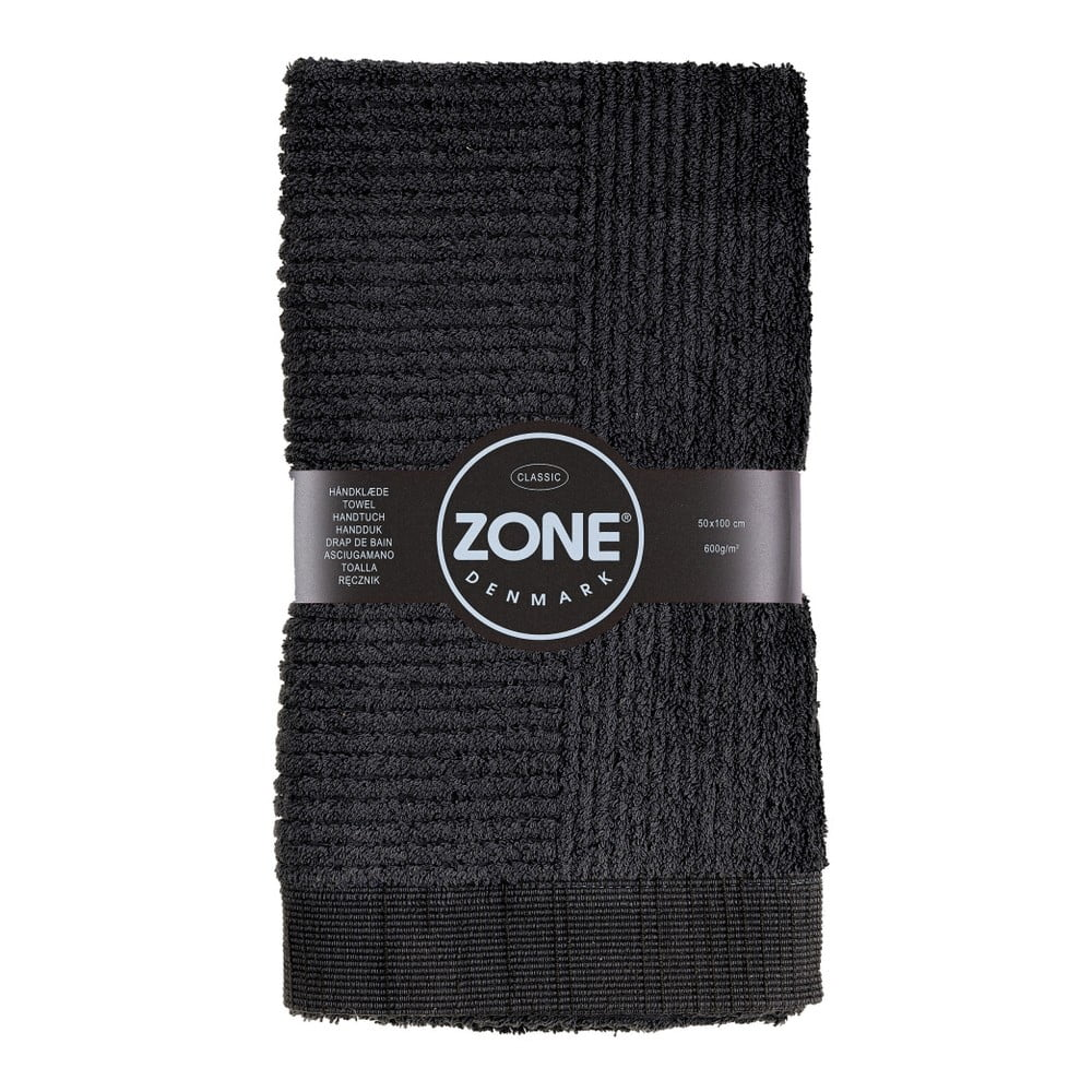 Čierny uterák Zone Classic, 50 x 100 cm