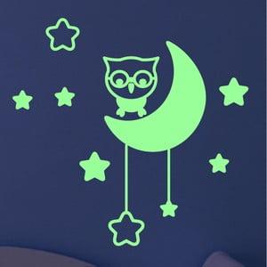 Samolepka svietiaca v tme Ambiance Moon and Stars