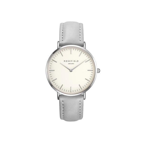 Strieborno-sivé dámske hodinky Rosefield The Bowery