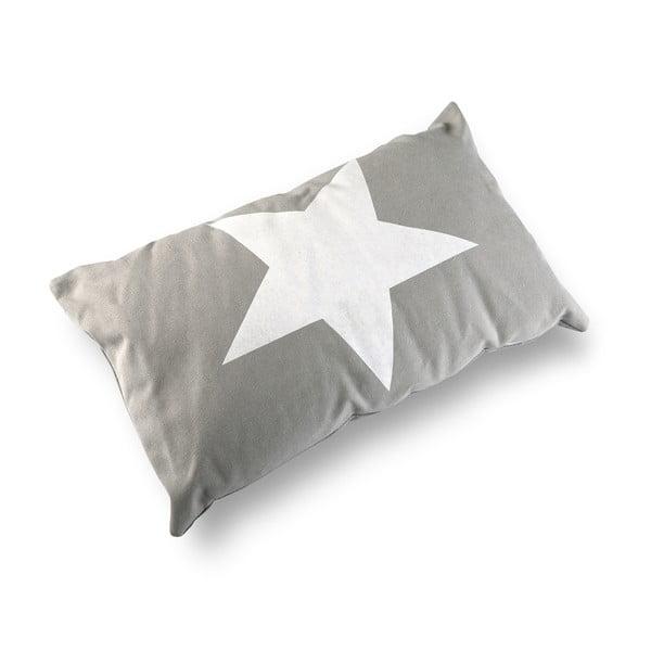 Obdĺžnikový vankúš s výplňou Grey & White Star, 50 x 30 cm