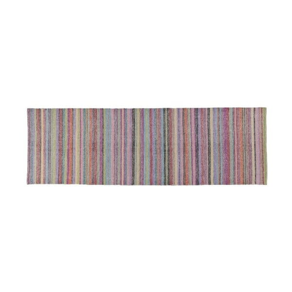 Vlnený koberec Snow Pastel, 80x280 cm
