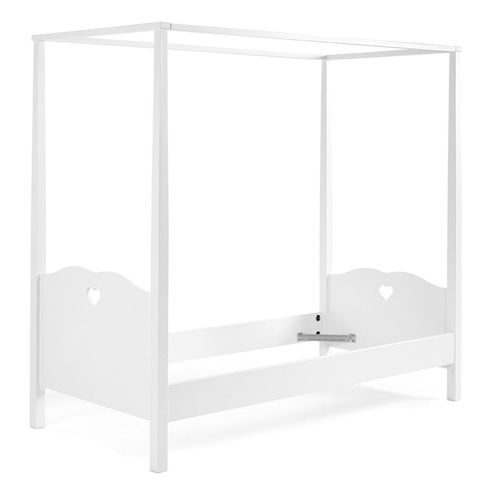 Biela detská posteľ s nástavcom na nebesa Vipack Amori