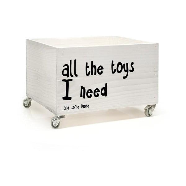 Drevená škatuľa na kolieskach Little Nice Things All The Toys