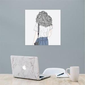Nástenný samolepiaci obraz North Carolina Scandinavian Home Decors Girl V9, 30×30 cm