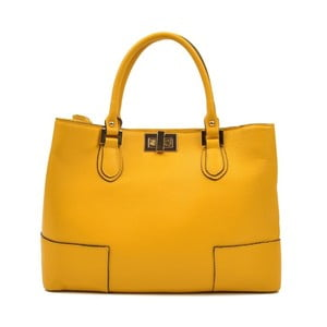 Žltá kožená kabelka Anna Luchini Misseria