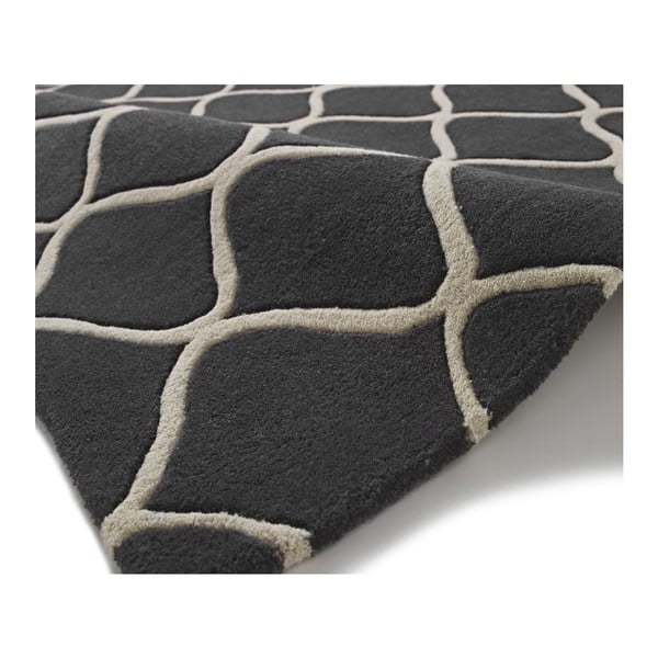 Sivý vlnený koberec Think Rugs Elements Grey, 120x170cm