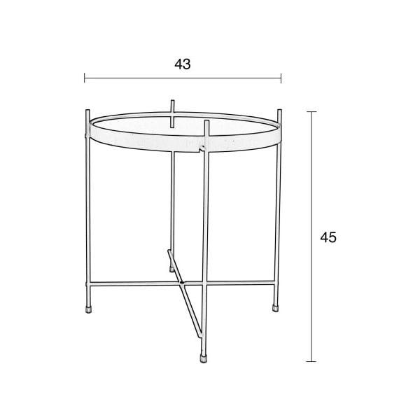 Odkladací stolík v medenej farbe Zuiver Cupid