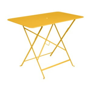 Žltý záhradný stolík Fermob Bistro, 97×57 cm
