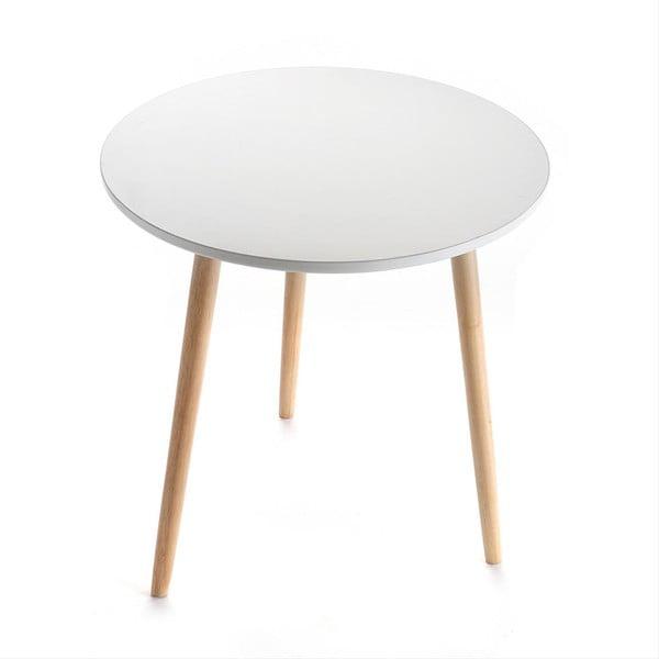Biely odkladací stolík Auxiliary White, 50 cm