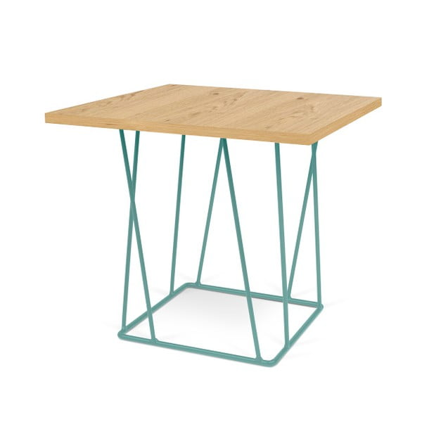 Konferenčný stolík so zelenými nohami TemaHome Helix,50cm