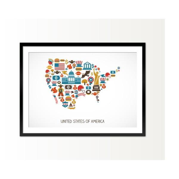 Zarámovaný obraz USA, 50x70 cm