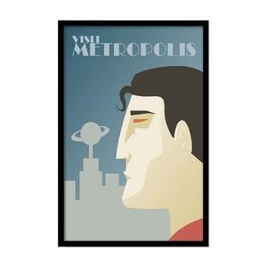 Plagát Visit Metropolis, 35x30 cm