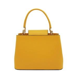 Žltá kabelka z pravej kože Andrea Cardone Milleo