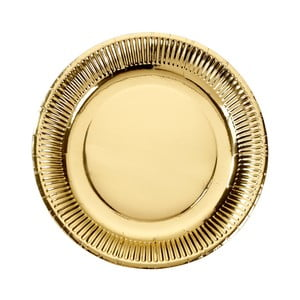 Sada 8 papierových tanierikov zlatej farby Talking Tables Metallics, ⌀ 23 cm