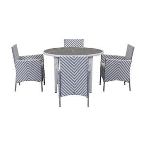 Sivo-biely set záhradného nábytku Safavieh Malaga
