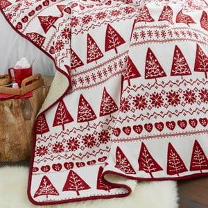 Červený pléd Catherine Lansfield Nordic Winter, 170×130 cm