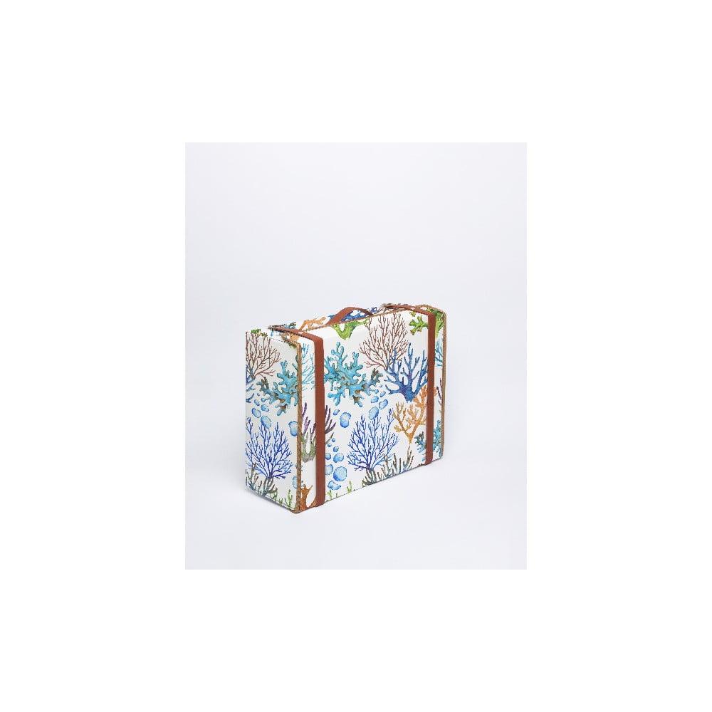 Kufor Surdic Valise Corals s motívom koralov, 31 x 40 cm