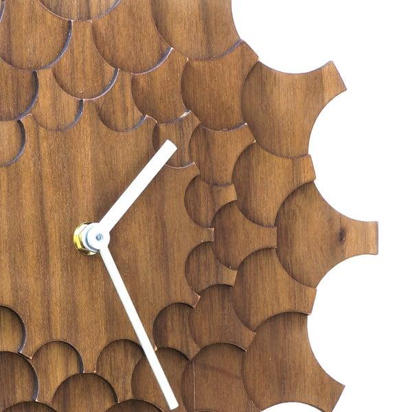 Drevené hodiny Cogwheel Walnut, 29 cm