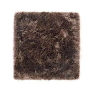 Sivohnedý koberec z ovčej kožušiny Royal Dream Zealand, 70 x 70 cm