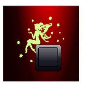 Samolepky svietiaca v tme Ambiance Fairy with the Stars