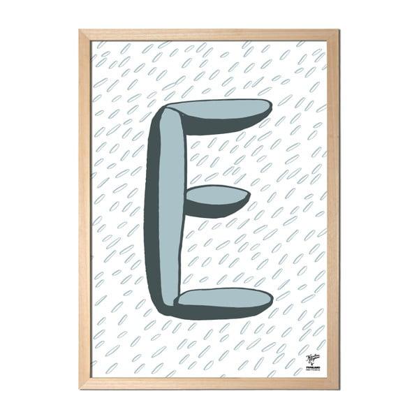 Plagát E od Karolíny Strykovej