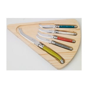 5-dielna sada nožov na syry v drevenom balení Jean Dubost Slice of Cheese