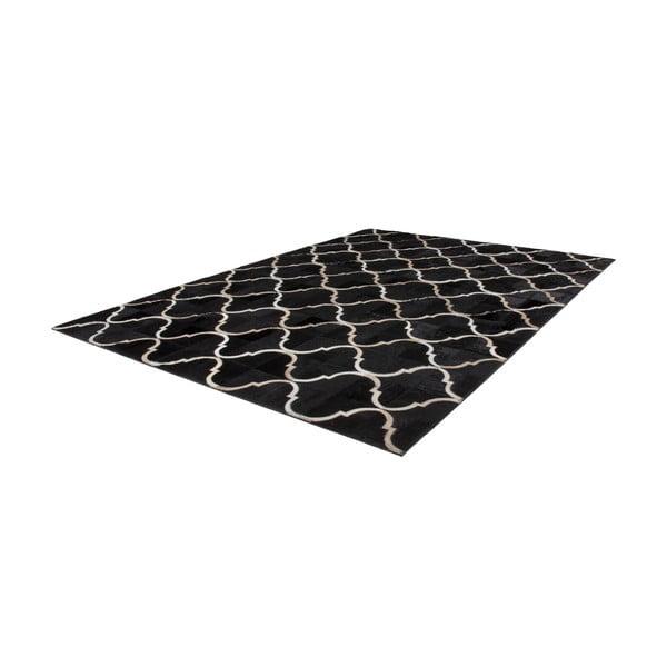 Kožený koberec Eclipse Black, 120x170 cm