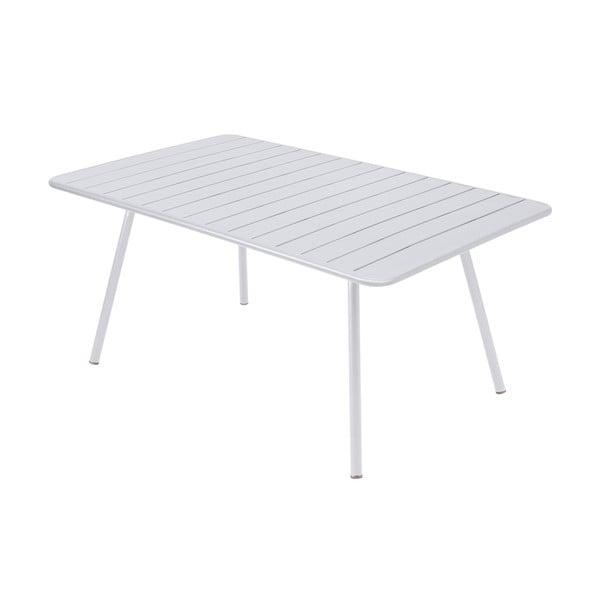 Biely kovový jedálenský stôl Fermob Luxembourg
