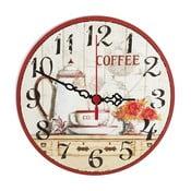 Nástenné hodiny Coffee Time, 30 cm
